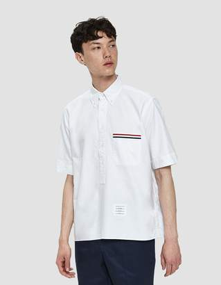 Thom Browne Short Sleeve Pullover Shirt in White