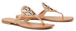 Tory Burch Miller Square-Toe Sandals, Leather