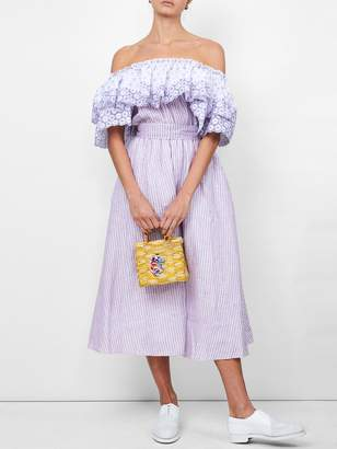 Gul Hurgel Off the shoulder belted dress