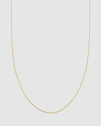 Necklace Basic Box Chain 925 Sterling Silver Gold Plated