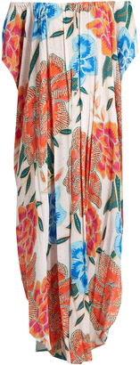 MARA HOFFMAN Arcadia Coral-print cover-up maxi dress $310 thestylecure.com