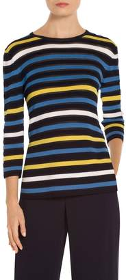 St. John Ombre Color Stripe Knit Sweater