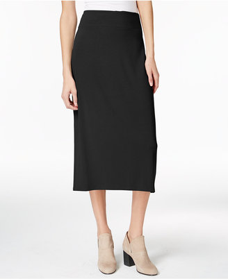 Eileen Fisher Jersey Midi Pencil Skirt $138 thestylecure.com