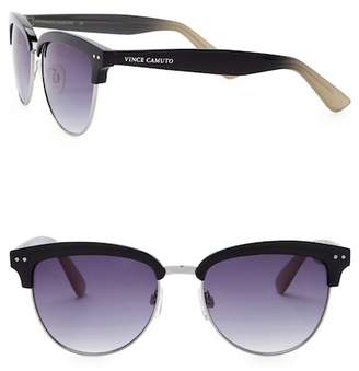 Vince Camuto Clubmaster 55mm Metal Frame Sunglasses