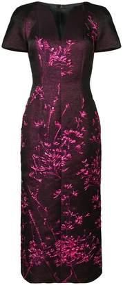 Talbot Runhof metallic twig detail dress