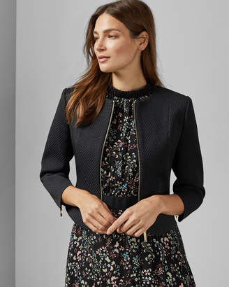 Ted Baker LAJ Curved hem cropped jacket