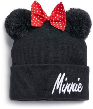 Disney's Minnie Mouse Pom-Pom Ears & Bow Knit Beanie