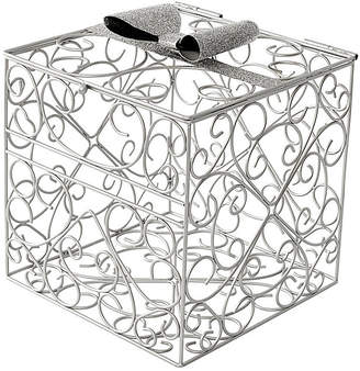 Cathy's Concepts Silver Bow Tie Reception Card Holder