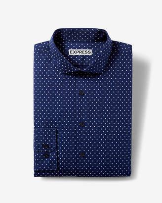Express Extra Slim Micro Dot Dress Shirt