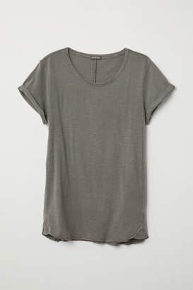 H&M Slub Jersey T-shirt - Green