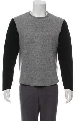 Rag & Bone Neoprene-Accented Crew Neck Sweatshirt