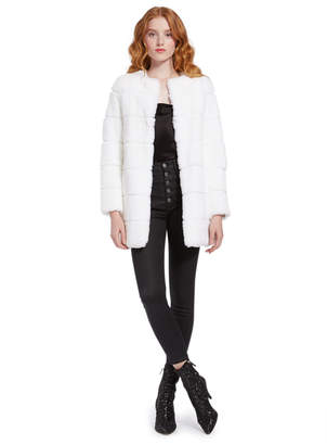 Alice + Olivia Rory Collarless Coat
