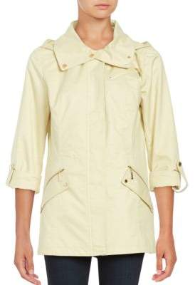 Ellen Tracy Removable Hood Anorak Coat