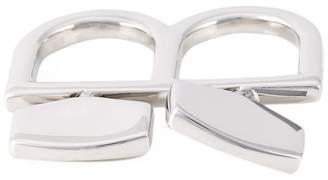 MM6 MAISON MARGIELA two finger twist lock ring