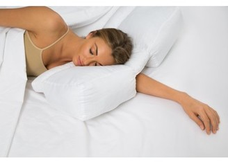 Better Sleep Pillow Gel PolyFiber Pillow Patented Arm-Tunnel Design Improves Hand And Arm Circulation Neck Pain Relief Perfect Side and Stomach Sleeper Pillow Bed Pillow, White