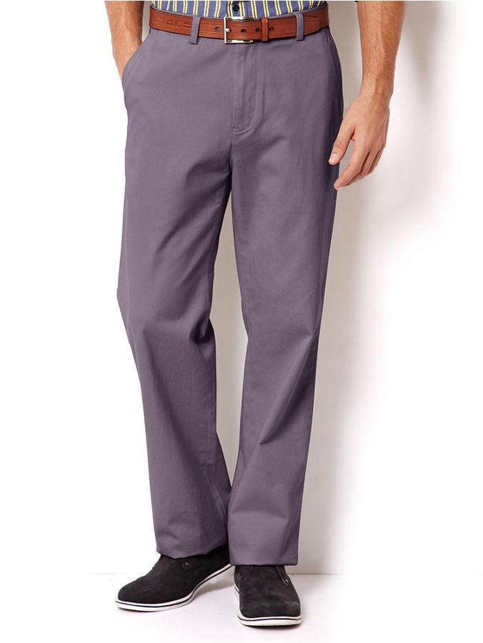 Nautica Pants, Flat Front Twill Anchor Pants