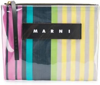 Marni striped clutch