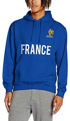 Toffs Retro Football Men's France Long Sleeve Hoodie