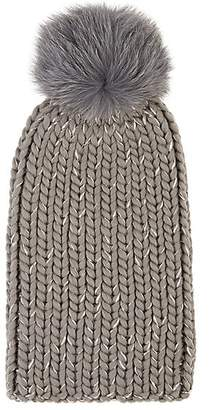 22fd428cdfb1d Eugenia Kim Women s Rain Chunky Rib-Knit Wool-Blend Beanie - Light Gray