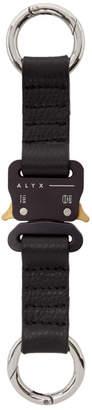 Alyx Black Leather Rollercoaster Keychain