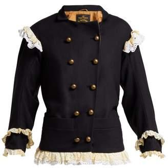 Vivienne Westwood Pirate Virgin Wool Blend Jacket - Womens - Navy
