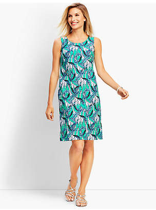 Talbots Giraffe-Print Shift Dress