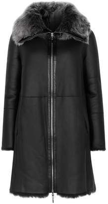 Emporio Armani Black Reversible Fur