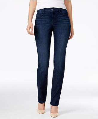 Style & Co Tummy-Control Slim-Leg Jeans, Only at Macy's $49 thestylecure.com