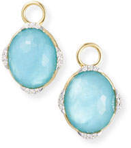 Jude Frances 18k Lisse Oval Earring Charms, Blue Triplet