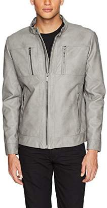 Calvin Klein Men's Lightweight Faux Leather Open Bottom Jacket