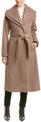 T Tahari Missy Alice Maxi Wool-Blend Coat