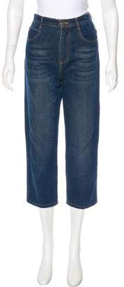 Chloé High-Rise Straight-Leg Jeans