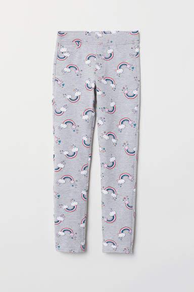 H&M - Thick Jersey Leggings - Gray