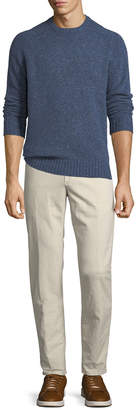 Incotex Men's 1st Washed Chino Flat-Front Pants