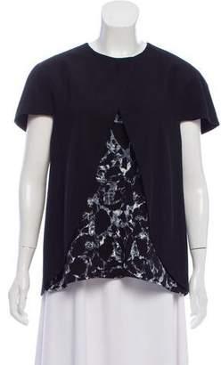 Balenciaga Printed Cap Sleeve Top w/ Tags