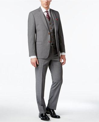 Lauren Ralph Lauren Men's Big & Tall Slim-Fit Gray Pinstripe Total Stretch Vested Suit $750 thestylecure.com