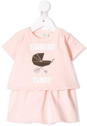 Fendi fabulous family print sweatshirt
