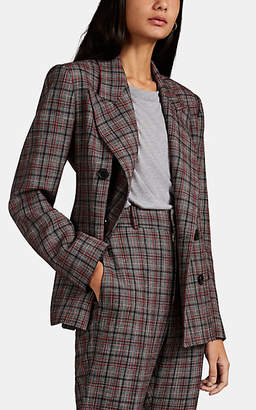 Isabel Marant Women's Dallin Plaid Double-Breasted Blazer