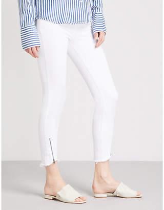 Paige Verdugo zipped-hem ultra-skinny mid-rise jeans