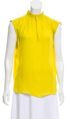 Cédric Charlier Silk Sleeveless Top