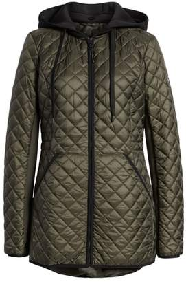 MICHAEL Michael Kors Diamond Quilted Hybrid Hooded Jacket