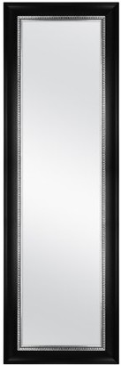 """Mainstays Over-the-Door Mirror, 17"""" x 53"""", Black with Pewter"""