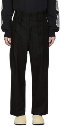 SASQUATCHfabrix. Black High Waist Work Pants