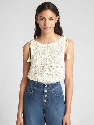 Gap Crochet Tie-Strap Tank Top