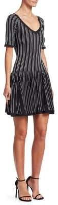 Cushnie et Ochs Two-Tone Sleeveless Knit A-Line Dress