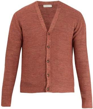 Etro V-neck honeycomb-knit cotton-blend cardigan