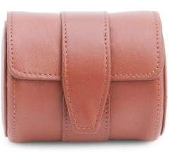 Genuine Leather Single Watch Travel Roll