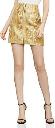 BCBGMAXAZRIA Metallic Jacquard Mini Skirt