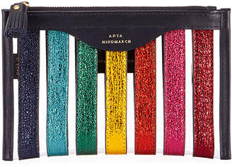 Anya Hindmarch Multi Stripes Loose Pocket Pouch/Wallet