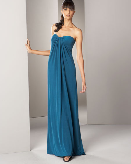Tadashi Strapless Jersey Gown